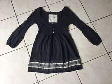 Pull ABERCROMBIE & FITCH taille S bleu/gris laine bon état