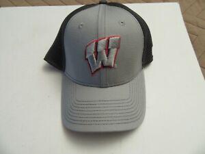 BRAND NEW MEN MEN'S CAP WISCONSIN BADGERS BLACK & GRAY CAPS!