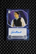 TOPPS DR WHO (2015) EXTREMELY RARE CATRIN STEWART AUTOGRAPH NUMBERED 01/25