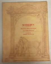 6-21-1994 Sotheby's Catalog Western Manuscripts and Miniatures London