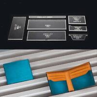 7pcs DIY Leather Craft Acrylic Purse Short Wallet Pattern Templates Stencils