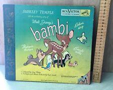 Vintage Walt Disney Bambi story Shirley Temple 1940's Records album 1948