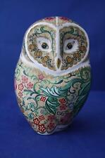 ROYAL CROWN DERBY PARCHMENT OWL PAPERWEIGHT - NEW / BOXED