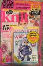 Let's Knit British Special Sparkly Yarn Free Patterns Oct 2015 FREE SHIPPING!