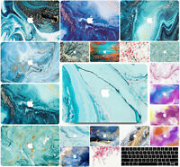 """2012-2020 M1 Macbook Air Pro 11 13"""" 15 16"""" Marble Hard Shell Case Keyboard Cover"""