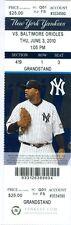 2010 Yankees vs Orioles Ticket: Alex Rodriguez, Brett Gardner,  Luke Scott HRs