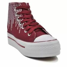 Tanggo Gretchen Fashion High Cut Sneakers Women's Shoes (MAROON) SIZE 37