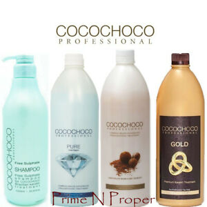 COCOCHOCO 1  Keratin Treatment Gold Original Pure + Sulphate Free Shampoo 1000ml