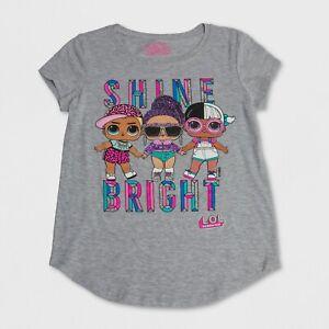 NEW Girls LOL Surprise Shine Bright Top Glitter Graphic Tee NWT 6 6X 8 12 16 yr