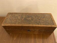 Antique Wheeler & Wilson Sewing Machine Wooden Box W&W Oak Wood