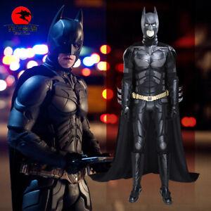 DFYM Batman Cosplay The Dark Knight Costume Black Leather Clothing Men Halloween