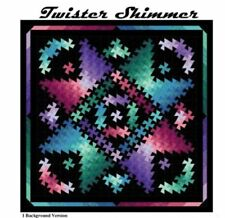 Twister Shimmer Quilt Pattern uses Twister Tool 4 Sizes