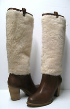 UGG AVA EXPOSED FUR WOMEN TALL BOOTS CHESTNUT US 9 /UK 7.5 /EU 40