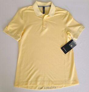 Lululemon Tech Pique Polo Size Small Yellow Anti-Stink Golf SNSW $98 NWT