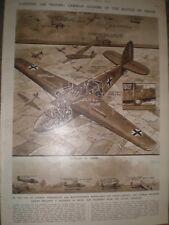 WWII German gliders role in Battle of Crete Greece 1941 print ref  AQ