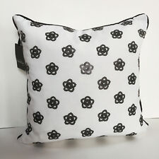 Nicole Miller BLACK WHITE Sequined DECO PILLOW flowers floral Feather Insert Bed