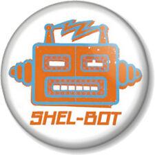 """SHEL-BOT 1"""" 25mm Pin Button Badge Sheldon Cooper Big Bang Theory Bazinga TV Geek"""