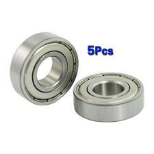 5 pcs 12mm x 28mm x 8mm 6001Z Shielded Deep Groove Radial Ball Bearing BT