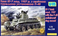 UniModel 1/72 BT-7 Tank Mod. 1937 Avec le P-40 ANTI-AIRCRAFT Ring Mount # 238