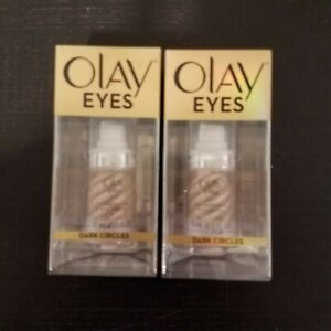 Lot of 2 - Olay Eyes Illuminating Eye Cream for Dark Circles 15ml - New Sealed