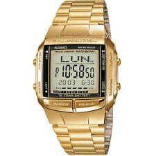 Casio Watch DB-360GN-9AEF Digital Mens Wrist Stainless Steel Gold New &