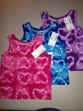 """# 11 NEW, 3 GIRLS TANKS size 6-9 mo, """"Tie Dye Hearts"""", Childrens Place, NWT"""