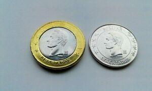 Venezuela Coins Set of 2 pcs. ( 50 Centimos , 1 Bolivar ) UNC 2018