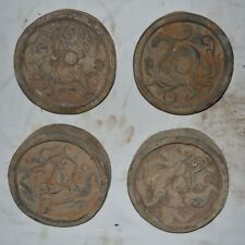 Set China Clay Burn Pottery Tomb Building Tile-end Eaves Tile With Beast Design