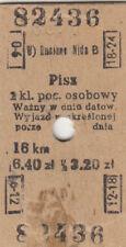 Alte Fahrkarte Polnisch Pisz  (G4332)