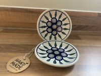 Small side plate Handmade Polish pottery Boleslawiec