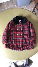 Penelope Mack Youth Girl Red Black Plaid Coat Jacket Size 6x