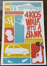 2016 SDCC WONDERCON BLACK MASK 4 KIDS WALK INTO A BANK SIGNED PROMO CARD