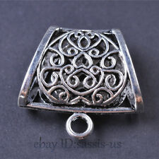 2 pieces 40mm Jewelry Scarf Rings Charm Pendants Connector Tibetan Silver A7643