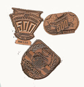 Indy 500 Bronze Pace Car Official Medallions 1995-96-97