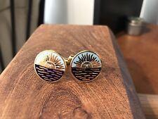 Rising Sun~Argentina Style~Gold Tone~cufflinks ~quality Built