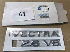 """Neues Emblem/Logo """"VECTRA 2.6 V6"""" Opel VECTRA B 9196543 original OPEL"""
