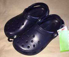 NEW CROCS Classic Navy Blue Mens 5 Womens 7 Juniors 5 Clogs Shoes