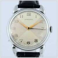 Rare Vintage Near Perfect 1948 Longines Jumbo Dial Men Watch, Fancy Dial, Boxes