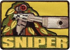 """Sniper Professional Hunters Ghillie Scope Embroidered Hook Patch 3.5"""" x 2.5"""""""