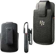 Original Blackberry Q10 Cuero Funda Giratoria Funda Protectora acc-50879-201 - Negro