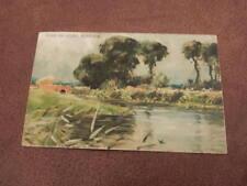 1906 fr Postcard - River scene - Nr Beccles - Waveney Suffolk
