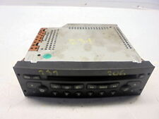 Stereo Cd Player Needs Coding -02 Peugeot 206 2.0 Hdi 3 Door(Ref.231)