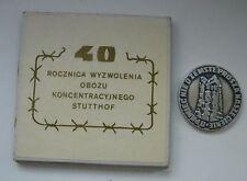 NAZI WWII DEATH CAMP STUTTHOF HOLOCAUST JEWISH POLISH Poland MEDAL boxed