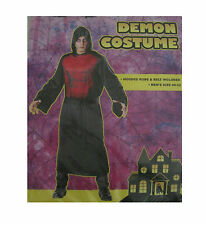 Demon Hooded Black Red Robe Devil Adult Mens Halloween Costume