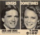 1986 ABC TV AD~SHELLEY HACK & TOM MASON in JACK AND MIKE NEW SHOW PREMIERE