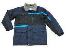 Columbia Jacket Youth Size 14 - 16 Blue Full Zip Hardshell Coat WATERPROOF