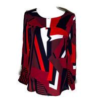 Ann Taylor Loft Womens Top Split Sleeves Blouse Crew Neck Work Ladies Size Small