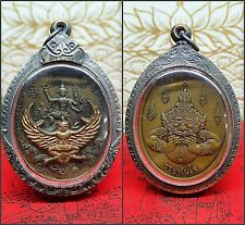Thai Amulet Phra Garuda Phaya Krut Magic Bird Vishnu Pendant Amulet Demon Rahu