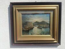 Salvatore Petruolo (Catanzaro, 1857 - Naples 1942) Huile Table Marine Paysage