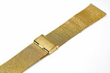 22MM GOLD STAINLESS STEEL MESH METAL BUCKLE WATCH BAND STRAP FITS SKAGEN